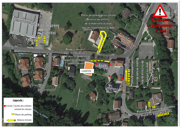 plan circulation travaux ecole